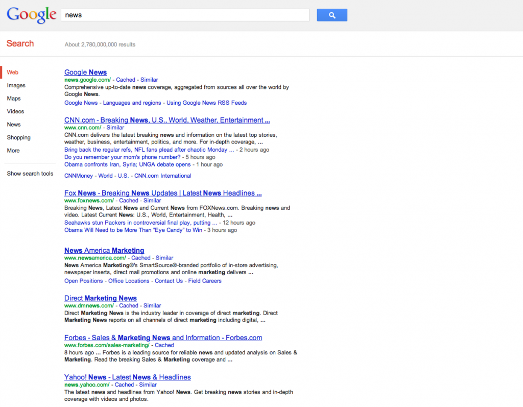 Screen Shot of Google.com search for 'news' 2012-09-25 at 1.17.37 PM