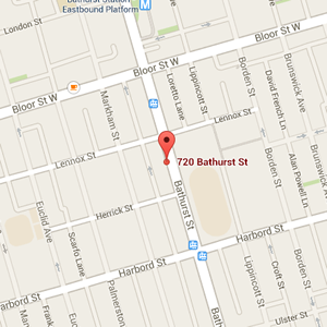 Map of Fruition at 720 Bathurst St., Toronto