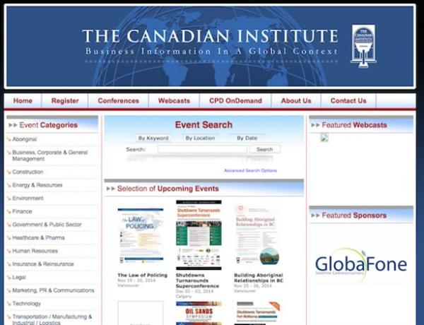 Canadian Institute Home Page